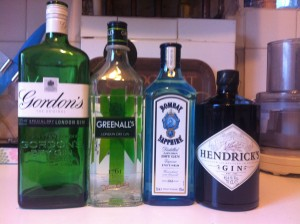 The gin line up