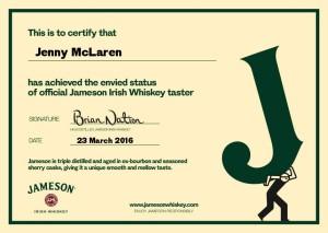 Jameson certificate