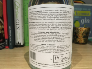 Gower Rhosili gin label