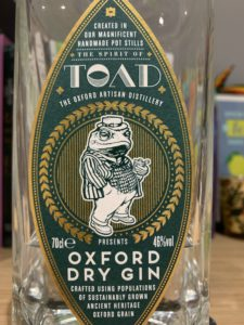 TOAD gin label