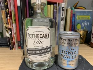 Smuggler's Strength gin and tonic