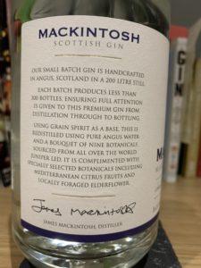 Mackintosh Mariners Strength gin
