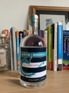 Gower gin Dragon Strength bottle