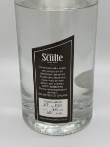 Sculte gin label