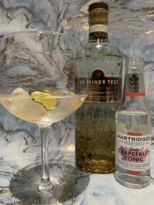 Chalkstream Gold gin and tonic