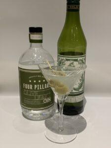 Four Pillars Olive Leaf Martini